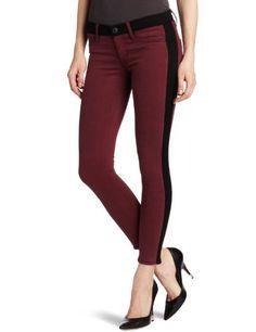 Hudson Women's Lee Loo Colorblock Skinny Jean, Bordeaux, 26 buy at http://www.amazon.com/dp/B008ODWJYU/?tag=bh67-20