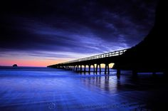 Tolaga Bay Wharf at sunrise - Cameron Clayton Photography Gisborne New Zealand, Blue Sunset, Beautiful Landscapes, Beautiful Scenery, Just Smile, Places To Travel, Places Ive Been, Life Is Good, Sunrise
