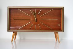 Mid-Century Mantel Clock from Weimar Uhren, 1950s for sale at Pamono