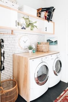 Practical Home laundry room design ideas 2018 Laundry room decor Small laundry room ideas Laundry room makeover Laundry room cabinets Laundry room shelves Laundry closet ideas Pedestals Stairs Shape Renters Boiler Laundry Room Organization, Laundry Room Design, Laundry In Bathroom, Organization Ideas, Storage Ideas, Ikea Laundry, Laundry Closet, Folding Laundry, Laundry Baskets