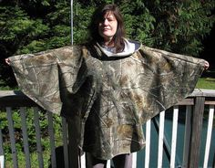 Hooded Poncho Camouflage Realtree Camo poncho by adfabinidaho