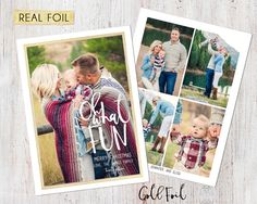 Photo Christmas Card : REAL FOIL Oh What Fun Brush by deanworks