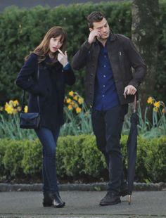 Jamie Dornan as Christian Grey and Dakota Johnson as Anastasia Steele filming Fifty Shades Darker & Freed http://www.everythingjamiedornan.com/gallery/displayimage.php?album=lastup&cat=0&pid=23288#top_display_media