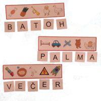 Skrytá slova 3 Montessori, Alphabet, Crafts, Manualidades, Alpha Bet, Handmade Crafts, Craft, Arts And Crafts, Artesanato