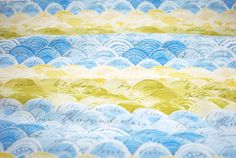 Itty Bitty in Blue from the Hello World Collection by Cori Dantini for Blend Fabrics - fabric by the yard