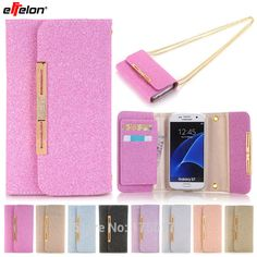 eFFelon Luxury Top Quality Lady Bags Leather case For Samsung Galaxy S7 cell Phone Cover Wallet with Card Holder For Samsung S7