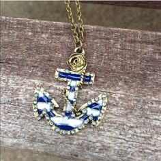 Anchor Necklace Cute antique bronze anchor necklace. New in package. Jewelry Necklaces