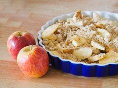 Hafercrumble mit Apfel und Mandarinen