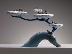 elan-bleu-nuages-Wang Ruilin est un jeune sculpteur chinois