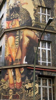 art nouveau handiedan arte urbano original diferente vintage erótico calle