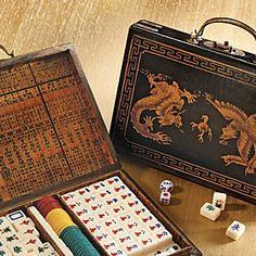 Antiqued Leather Mah-jongg Set