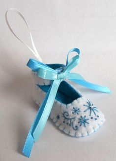 Felt Baby Shoe Ornament