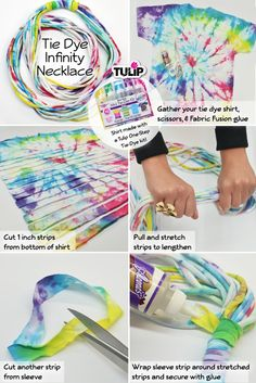 Make your own infinity tie dye necklace