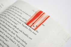 Magnetized bookmark (make it yourself).  I'm thinking end of the year student gifts!  Great idea!