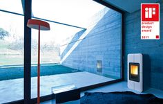 pellet stove canalized air that heats the water, Toba