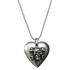 Crossbones Heart Necklace, $94, now featured on Fab.