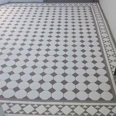 London Mosaic - Octagon and Dot Ceramic Tiles Rooftop Terrace Design, Terrace Decor, Tiles London, Porch Tile, Foyer Flooring, Garden Tiles, Tiled Hallway, Tile Installation, Hallway Decorating