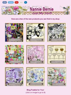 """Ad:New Scrapkits """"Witchy Poo"""",Mainly Black'n'White Quick Page Album, and More from Nannie Bernie!https://madmimi.com/s/0c0315"""