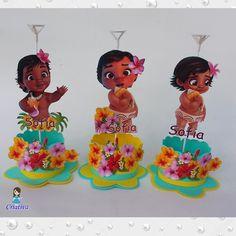 Moana Birthday Party Theme, Moana Themed Party, Moana Party, Hawaiian Birthday, 1st Birthday Girls, 2nd Birthday Parties, Moana Hawaiian, Moana Centerpieces, Festa Moana Baby