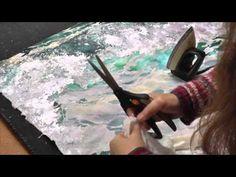 Wonderful! Textile Art | Teal Wave 1 | Amanda Richardson Artist