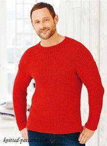 25955035a41f Free Knitting Men s Sweater Pattern Sweater Knitting Patterns