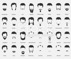 hair and beards of different faiths royalty-free stock vector art