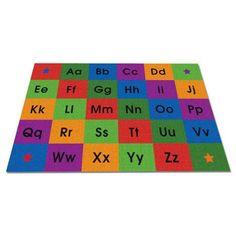 KidCarpet.com Row by Row Alphabet Kids Rug