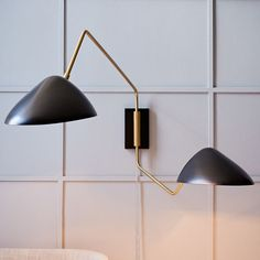Curvilinear Mid-Century Double Sconce #light #lighting