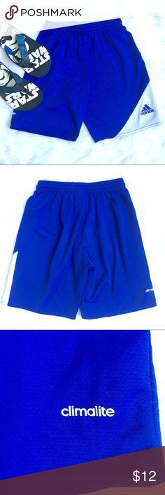2e5b978827 Adidas Shorts 7-8 Adidas ClimaLite Shorts Royal Blue/White Gently used  condition,