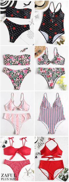 4ec47d1f0f Bandeau Top With High Cut Floral Plus Size Bikini. This paired plus size  bikini swimwear