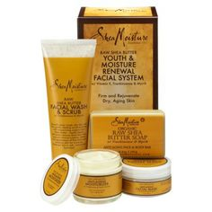 Shea Moisture Raw Shea Butter Youth & Moisture Renewal Facial System I've been using this for a few weeks now and I love it!!