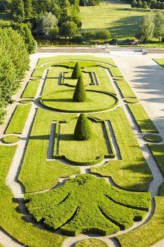 Bellos jardines , todo geometría