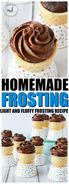 Perfect frosting recipe, Learn how to make chocolate homemade frosting that is light and fluffy, plus perfect for your next round of baking, using chocolate pudding, powdered sugar and whipped cream Hot Fudge Cake, Hot Chocolate Fudge, How To Make Chocolate, Homemade Chocolate, Chocolate Frosting, Chocolate Recipes, Fluffy Frosting Recipes, Homemade Frosting, How To Make Frosting