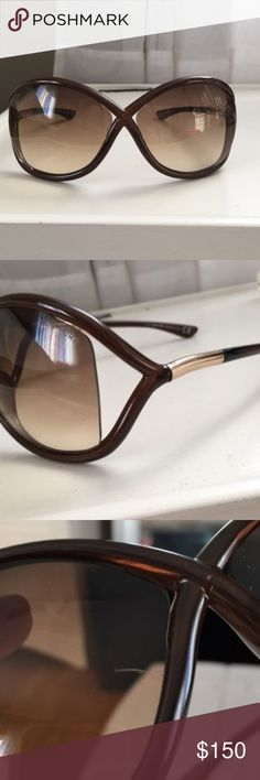 99c72472d1c64   Tom Ford   Womens Whitney T9 Sunglasses Brown TF sunglasses. Never worn.  Right