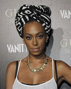 You know Solange knows how to bring it...  It is wrapped like a towel, but it looks gorgeous
