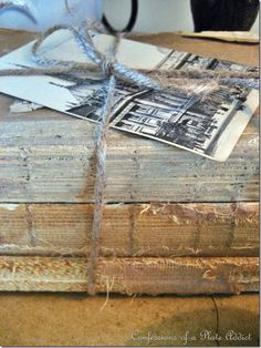 DIY:  Restoration Hardware Inspired Vintage Book Bundle Tutorial - easy and inexpensive to make - Confessions of a Plate Addict
