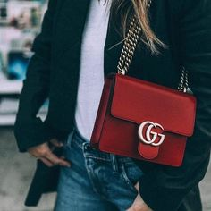 Throw on a statement bag to upgrade any look.