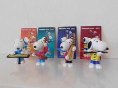 Peanuts Snoopy 4 x Figur Panasonic Japan Werbefiguren Musiker komplettes Set  | eBay
