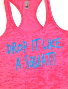 Workout Clothing // Drop it like a squat // Abundant Heart Apparel from AbundantHeartApparel on Etsy. Saved to Things that catch my eyes. Workout Attire, Workout Wear, Workout Tops, Workout Shirts, Workout Clothing, Squat Workout, Clothing Apparel, Workout Outfits, Site Nike