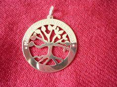 Familytree-pendant in silver