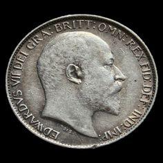 1906 Edward VII Silver Sixpence - VF