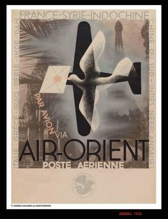 A M Cassandre | 1935 | Air–Orient
