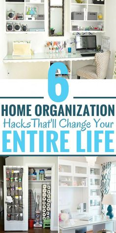 These home organization tips are AMAZING! I am so glad I found these to help me DECLUTTER and ORGANIZE my entire home. You should start following these 6 DIY decluttering hacks today. Pin this for later! #decluttermyhouse