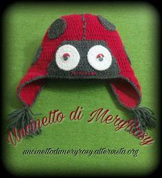 Ladybug hat crocheted #cappello #cappellino #uncinetto #crocheted #crochet #handmade #fattoamano #diy #bebè #bebe #bimba #baby #coccinella #coccinelle #hat #ladybug