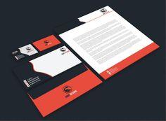A stationery set mockup for a Design Studio