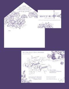 Custom Wedding Invitation & RSVP Card by LaceAndBeau on Etsy