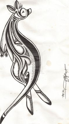tribal kangaroo tattoos - Google Search