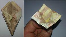 So wird aus einem Geldschein eine Blume gefaltet - Schritt 9