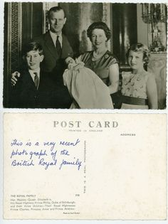 Postcards, the English royal family