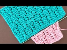 Easy Knitting Patterns, Lace Knitting, Stitch Patterns, Crochet Patterns, Delicate, Make It Yourself, Blanket, Handmade, Videos